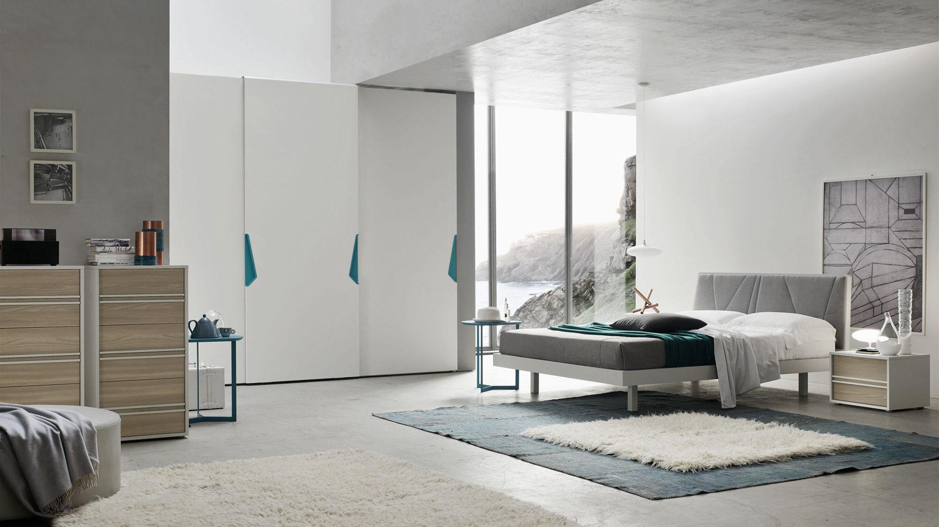 Letto arche imbottito orme for Arredamento camera da letto design