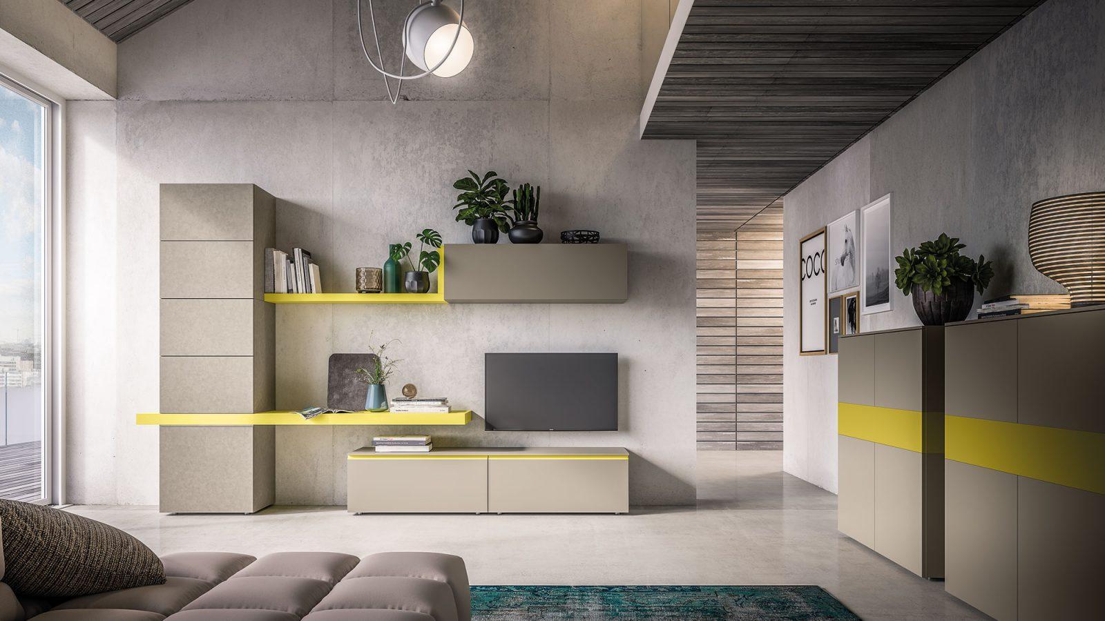 Arredamento zona giorno e zona notte di design orme for Soggiorno living